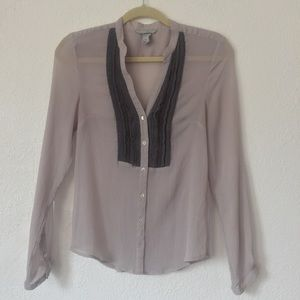 H&M Gray Blouse